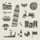 De pictogrammen van Italië Stock Fotografie