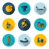 De pictogrammen van Italië in vectorformaat Stock Afbeeldingen