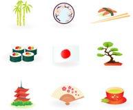De Pictogrammen van Japan stock illustratie
