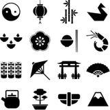 De pictogrammen van Japan. Stock Foto's