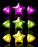 De pictogrammen van juwelen van sterren en pijlen royalty-vrije illustratie