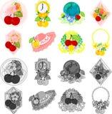 De pictogrammen van kers royalty-vrije illustratie