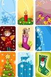 De pictogrammen van Kerstmis Royalty-vrije Stock Foto's