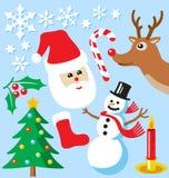 De Pictogrammen van Kerstmis Royalty-vrije Stock Afbeelding