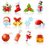 De pictogrammen van Kerstmis Royalty-vrije Stock Fotografie