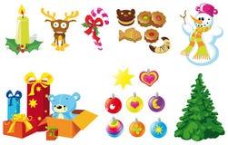 De pictogrammen van Kerstmis Royalty-vrije Stock Foto