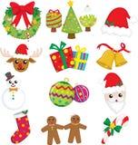 De pictogrammen van Kerstmis Stock Afbeeldingen