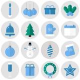 De pictogrammen van Kerstmis Stock Fotografie