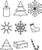De pictogrammen van Kerstmis Royalty-vrije Stock Afbeeldingen