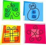 De pictogrammen van Kerstmis Stock Afbeelding