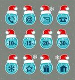 De pictogrammen van Kerstmis Kerstmisteken voor websites stock illustratie
