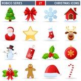 De Pictogrammen van Kerstmis - Reeks Robico Royalty-vrije Stock Foto