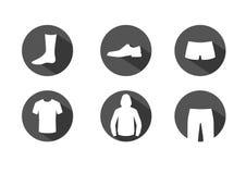 De pictogrammen van kleren stock illustratie
