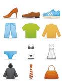 De pictogrammen van kleren Royalty-vrije Stock Afbeeldingen