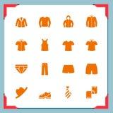 De pictogrammen van kleren | In een frame reeks Royalty-vrije Stock Afbeelding