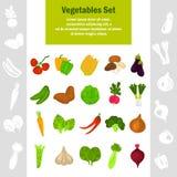 De pictogrammen van kleurengroenten voor Web en mobiel ontwerp worden geplaatst dat Stock Fotografie