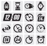 De pictogrammen van klokken Royalty-vrije Stock Afbeeldingen