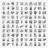 De pictogrammen van krabbelmensen Stock Fotografie