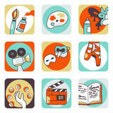De pictogrammen van kunsten Vector Illustratie