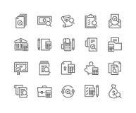 De Pictogrammen van de lijnboekhouding stock illustratie