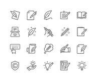 De Pictogrammen van lijncopywriting royalty-vrije illustratie