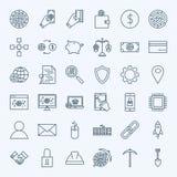 De Pictogrammen van lijncryptocurrency Royalty-vrije Stock Foto