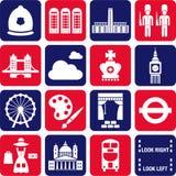 De pictogrammen van Londen Royalty-vrije Stock Afbeelding
