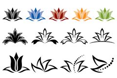 De Pictogrammen van Lotus Stock Afbeelding