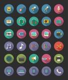 De pictogrammen van media Royalty-vrije Stock Afbeelding