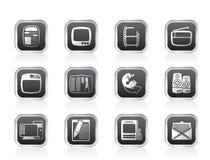 De pictogrammen van media Royalty-vrije Stock Foto