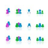 De pictogrammen van mensen Royalty-vrije Stock Afbeeldingen