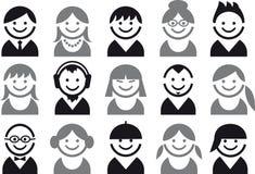 De pictogrammen van mensen Stock Afbeeldingen