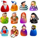 De pictogrammen van mensen Stock Foto's