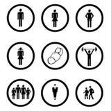 De pictogrammen van mensen Royalty-vrije Stock Afbeelding