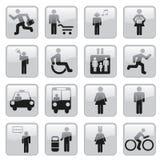 De pictogrammen van mensen royalty-vrije illustratie