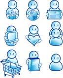 De pictogrammen van mensen Royalty-vrije Stock Foto's