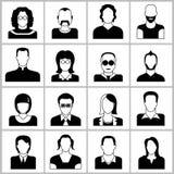 De pictogrammen van mensen Stock Foto