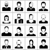 De pictogrammen van mensen Stock Fotografie