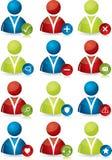 De pictogrammen van mensen met eigenschappen Royalty-vrije Stock Fotografie