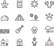 De pictogrammen van Mexico Royalty-vrije Stock Fotografie