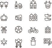 De pictogrammen van Nederland Royalty-vrije Stock Foto