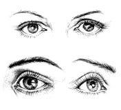 De pictogrammen van ogen royalty-vrije illustratie
