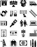 De pictogrammen van onroerende goederen royalty-vrije illustratie