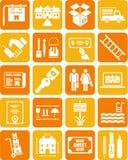 De pictogrammen van onroerende goederen Royalty-vrije Stock Afbeelding