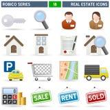 De Pictogrammen van onroerende goederen - Reeks Robico Royalty-vrije Stock Foto's