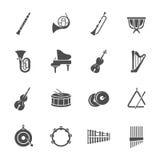 De pictogrammen van orkestinstrumenten stock illustratie