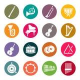 De pictogrammen van orkestinstrumenten royalty-vrije illustratie