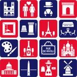 De pictogrammen van Parijs Royalty-vrije Stock Afbeelding