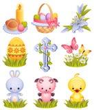 De pictogrammen van Pasen Stock Afbeeldingen