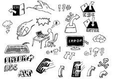 De pictogrammen van PC Royalty-vrije Stock Foto